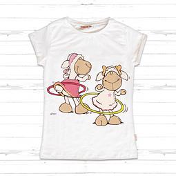 White Kids T-Shirt Jolly Amy & Frances