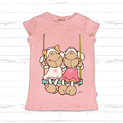 Kids T-Shirt Pink Jolly Amy & Frances