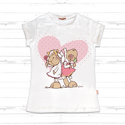 T-Shirt Criança com Coração Jolly Amy & Frances