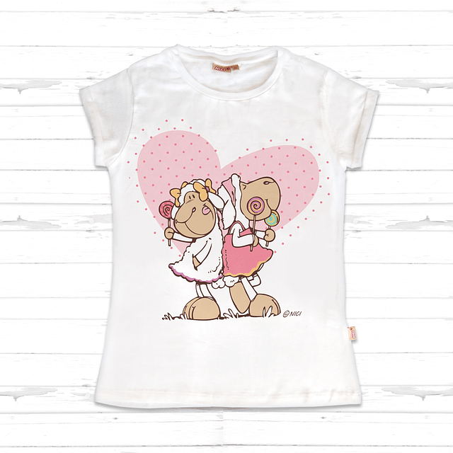 Kids T-Shirt with Heart Jolly Amy & Frances