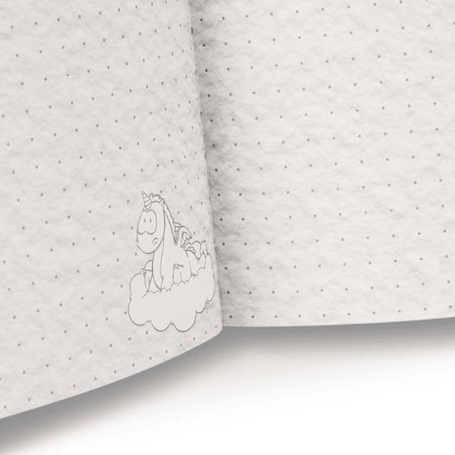 Conjunto Unicórnio (Bloco, afia, borracha, lápis e régua)