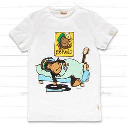 Camiseta blanca para hombre Jolly Bob Sleeping