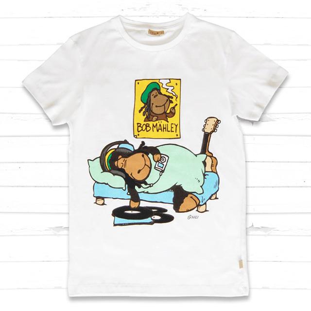 White Men's T-Shirt Jolly Bob Sleeping