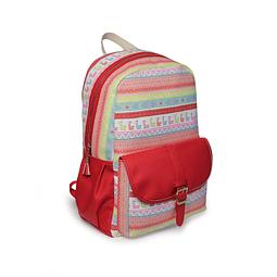Large Ethnic Mud Backpack