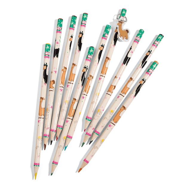 Lápices de color barro