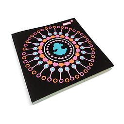 Cuaderno con funda efecto flocado