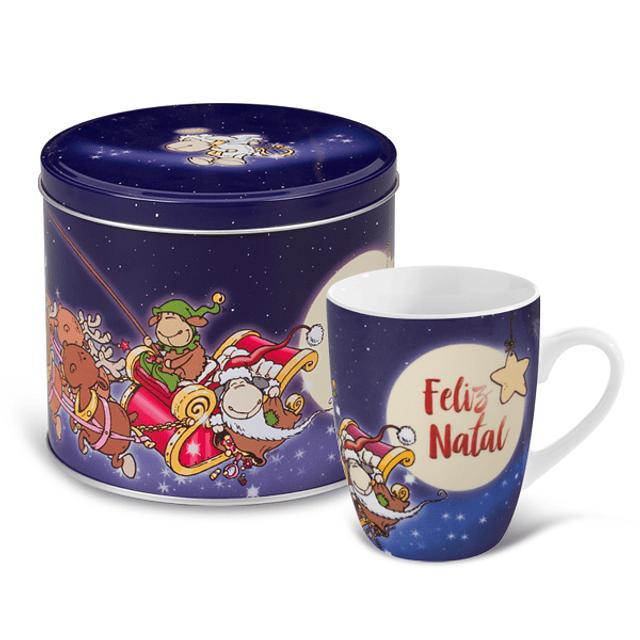 """Mug & Tin """"Merry Christmas"""""""