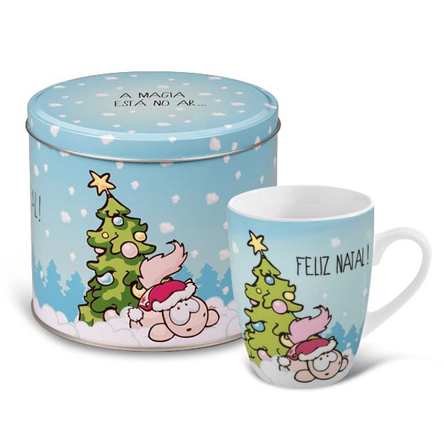 """Taza y lata """"La magia está en el aire ... Feliz Navidad"""""""