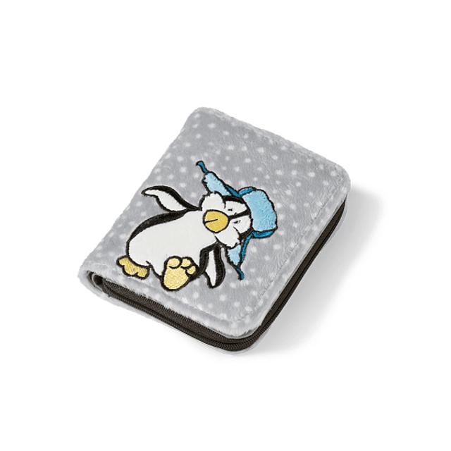 Carteira em Peluche Pinguim
