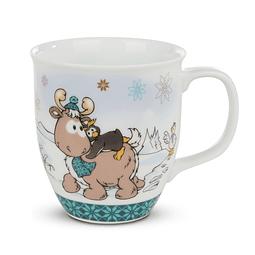 Frizzy Penguin & Reindeer Reny Heart Mug