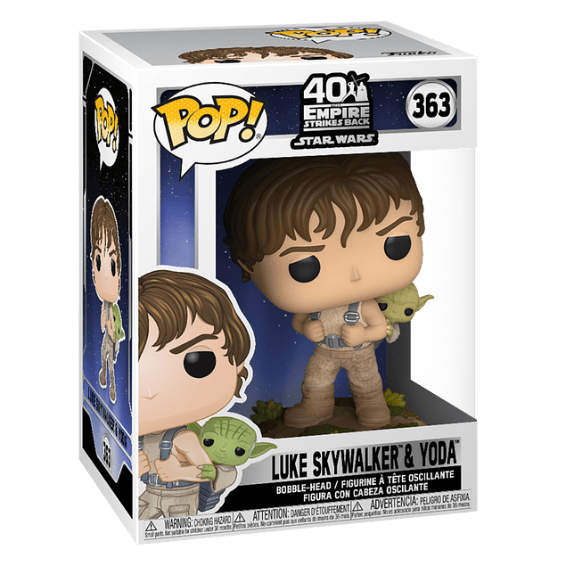 Luke Skywalker Y Yoda Funko Pop Star Wars 363