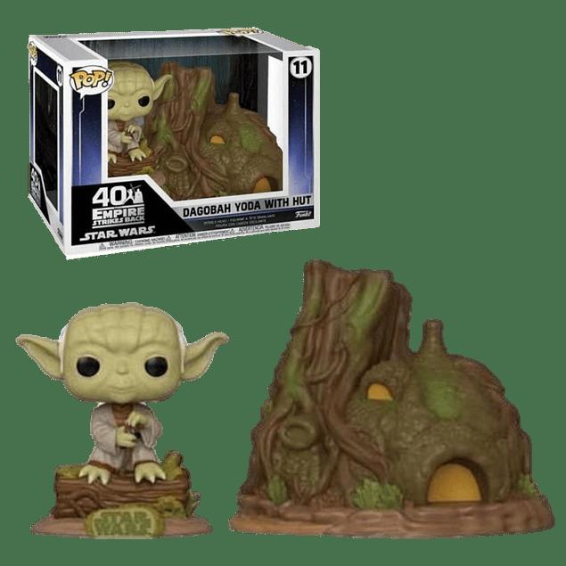 Dagobah Yoda With Hut Funko Pop Town Star Wars 11