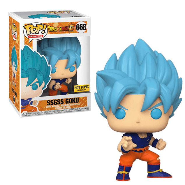 SSGSS Goku Funko Pop Dragon Ball Super 668 Hot Topic