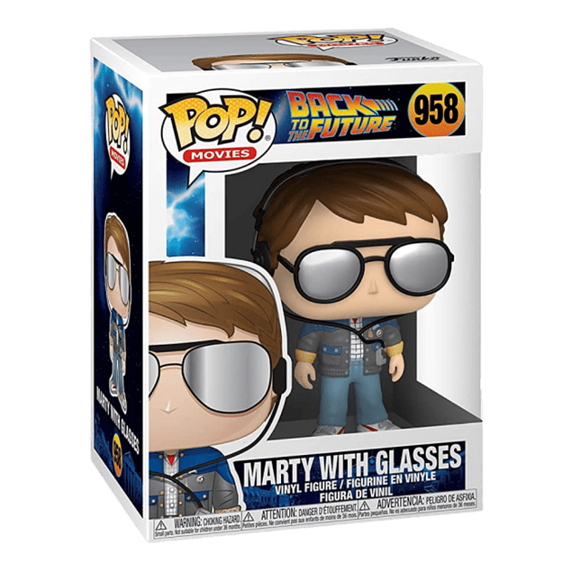 Marty With Glasses Funko Pop Back To The Future 958
