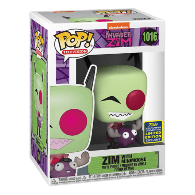 Zim With Minimoose Funko Pop Invader Zim 1016 SDCC2020