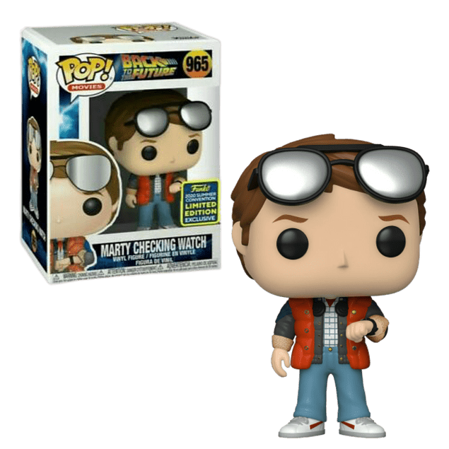 Marty Checking Watch Funko Pop Back To The Future 965 SDCC2020