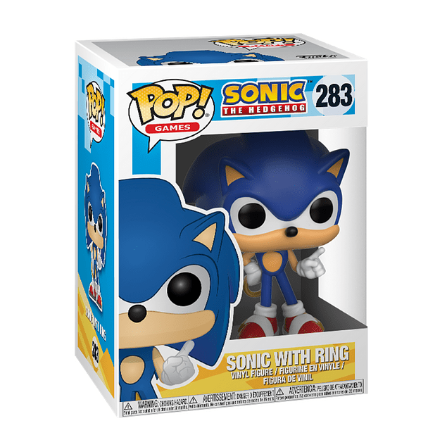 Sonic With Ring Funko Pop Sonic The Hedgehog 283