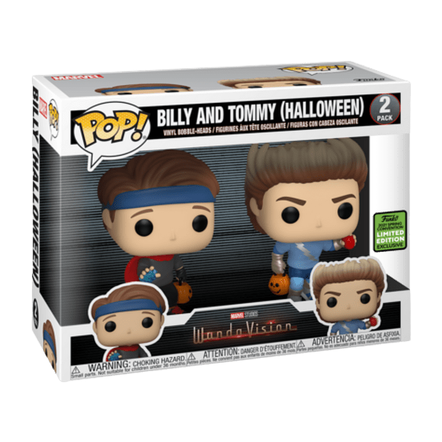 Billy And Tommy Halloween Funko Pop WandaVision 2 Pack ECCC2021
