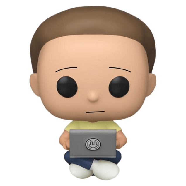 Morty With Laptop Funko Pop Rick And Morty 742 GameStop