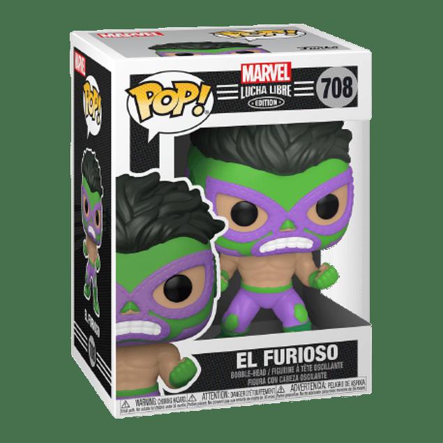 El Furioso Funko Pop Marvel Lucha Libre Edition 708