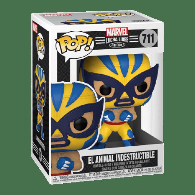 El Animal Indestructible Funko Pop Marvel Lucha Libre Edition 711