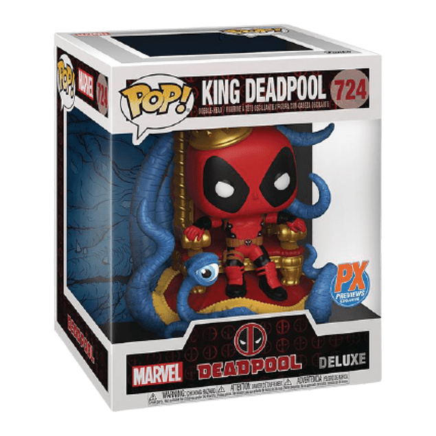 King Deadpool Funko Pop Marvel PX 724