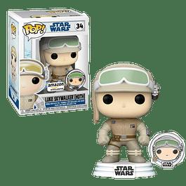 Luke Skywalker Hoth With Pin Funko Pop Star Wars 34 Amazon