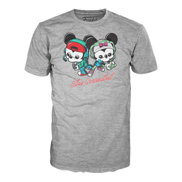 Camiseta Funko Pop Mickey Y Minnie Gamers