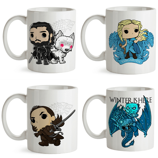 Mugs Game Of Thrones 4 Pack