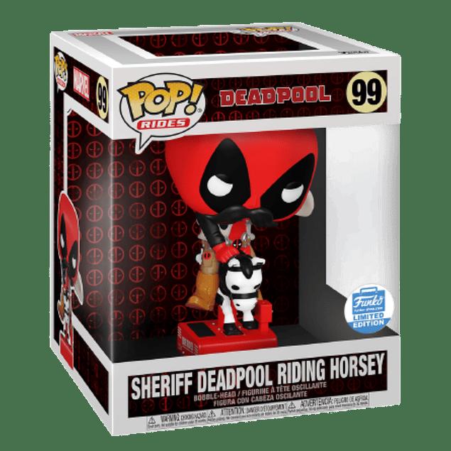 Sheriff Deadpool Riding Horsey Funko Pop Rides 99 Funko Shop