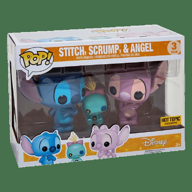 Stitch, Scrump Y Angel Funko Pop Lilo Y Stitch 3Pack Hot Topic