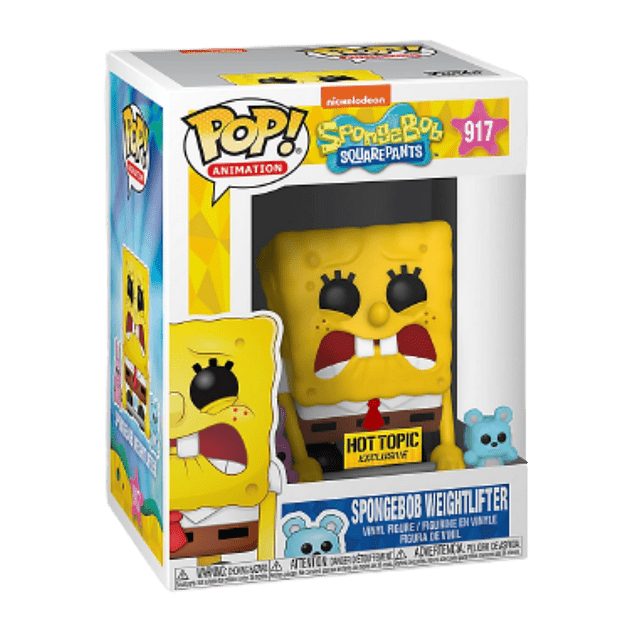 SpongeBob Weightlifter Funko Pop SpongeBob Squarepants 917 Hot Topic