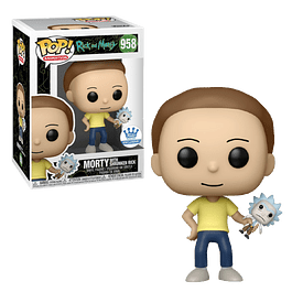 Morty With Shrunken Rick Funko Pop Rick And Morty 958 Funko Shop