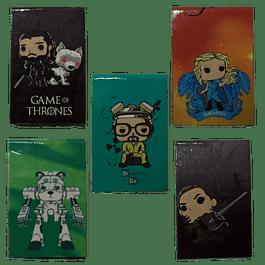 Series TV Separadores Magnéticos Para Libros