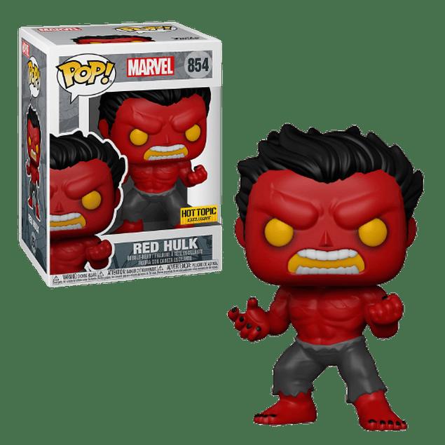 Red Hulk Funko Pop Marvel 854 Hot Topic