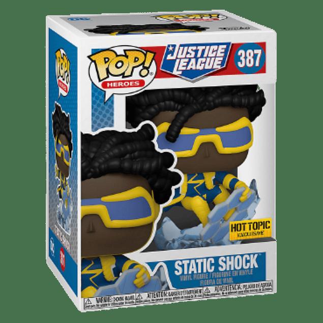 Static Shock Funko Pop Justice League 387 Hot Topic