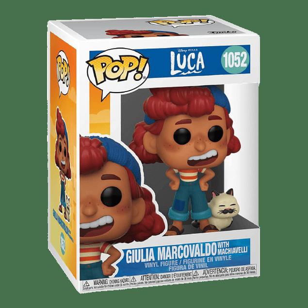 Giulia Marcovaldo With Machiavelli Funko Pop Luca 1052
