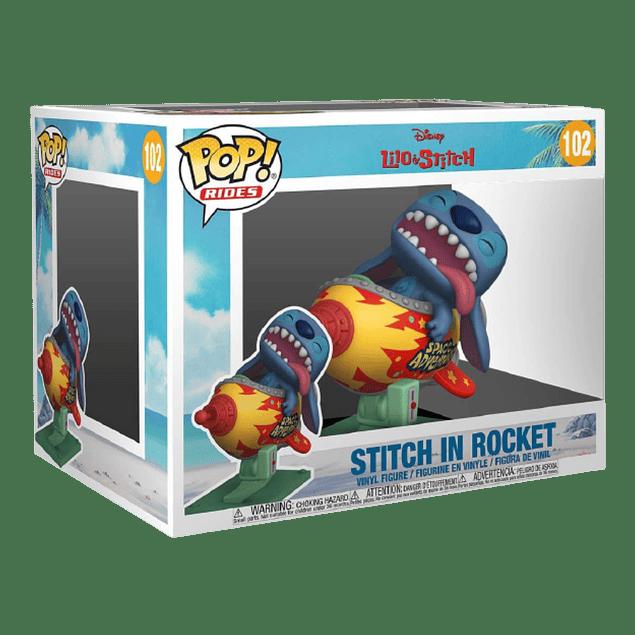 Stitch In Rocket Funko Pop Lilo Y Stitch 102