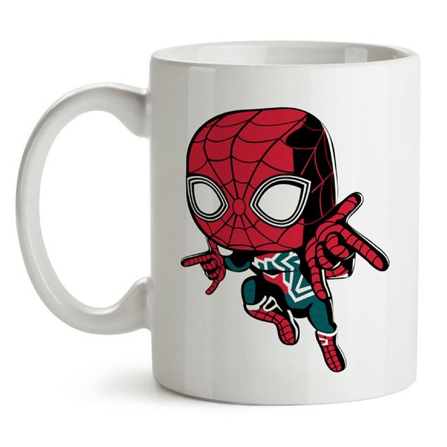 Mug Iron Spider Avengers Infinity War Tipo Pop