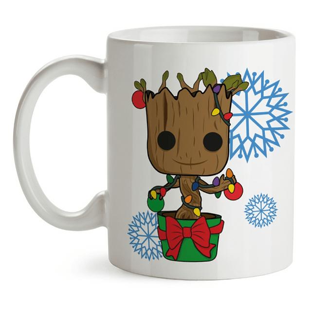 Mug Groot Navidad Guardianes De La Galaxia Tipo Pop