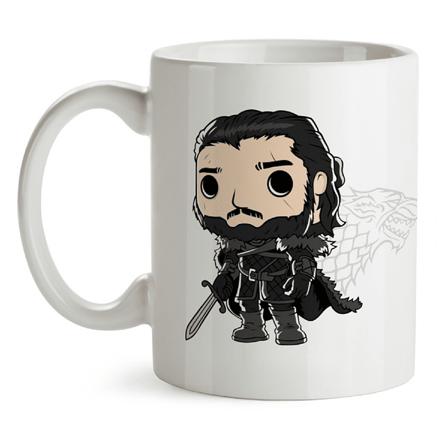 Mug Jon Snow Game Of Thrones Tipo Pop