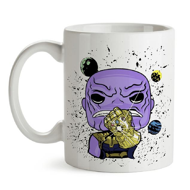Mug Thanos Guantelete Del infinito Tipo Pop