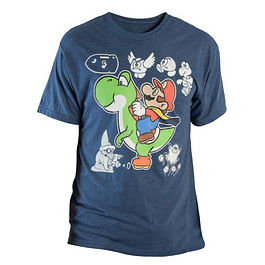 Camiseta Hombre Super Mario World Yoshi Nintendo