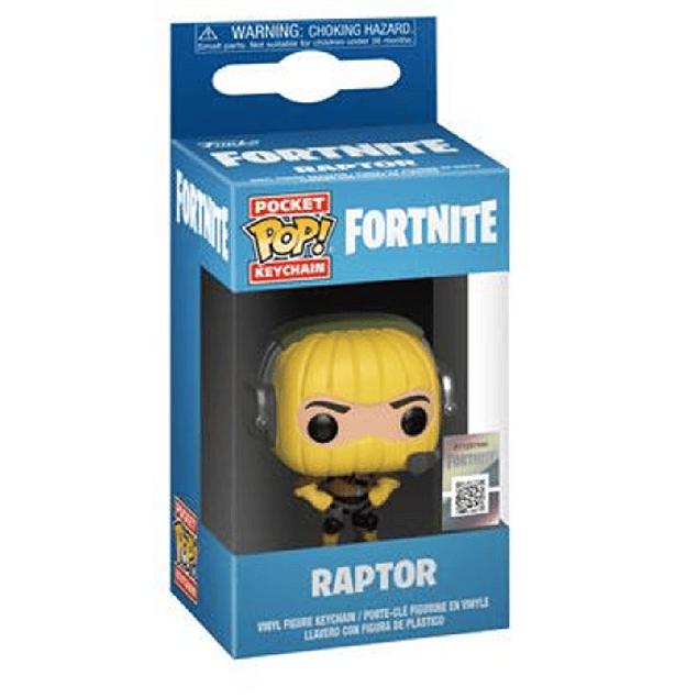 Raptor Llavero Funko Pop Fortnite