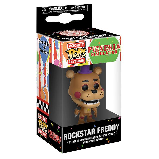 Rockstar Freddy Llavero Funko Pop Five Nights At Freddys
