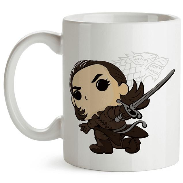 Mug Arya Stark Game Of Thrones Tipo Pop