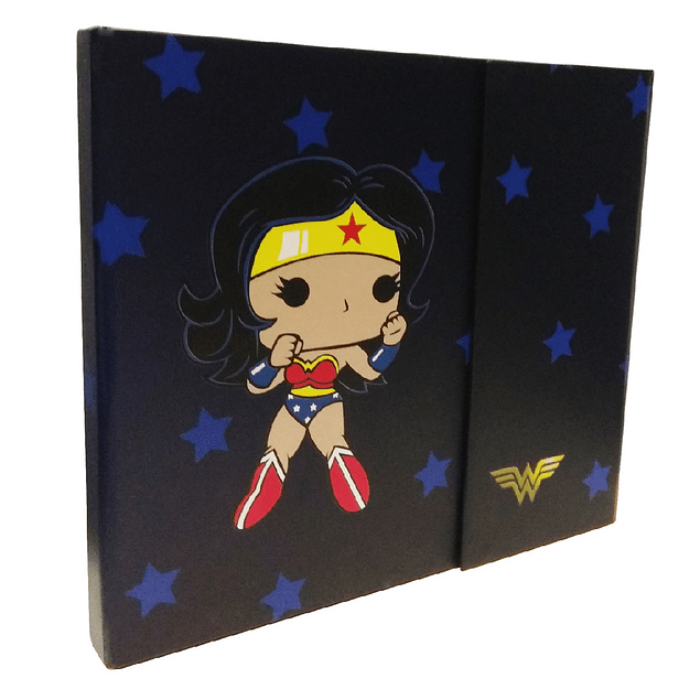 Agenda Magnética Wonder Woman Tipo Pop
