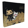 Agenda Magnética Jon Snow Y Ghost Game Of Thrones Tipo Pop