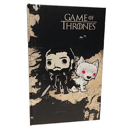 Agenda Jon Snow Y Ghost Game Of Thrones Tipo Pop
