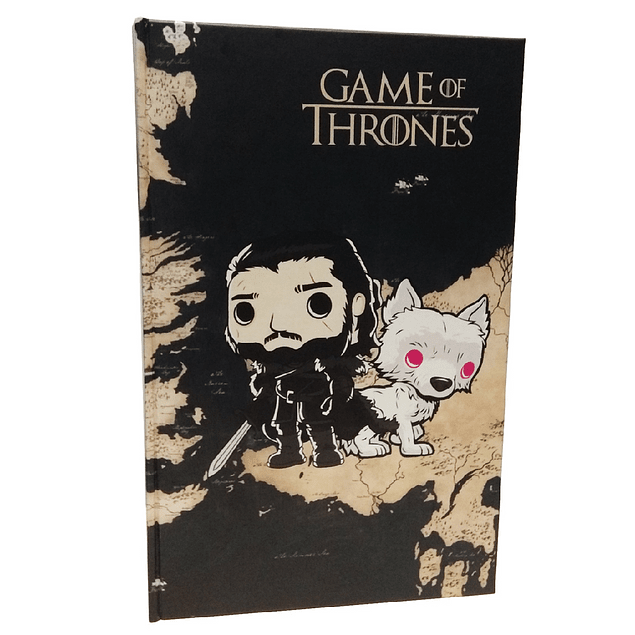 Agenda Jon Snow Y Ghost Game Of Thrones Tipo Pop